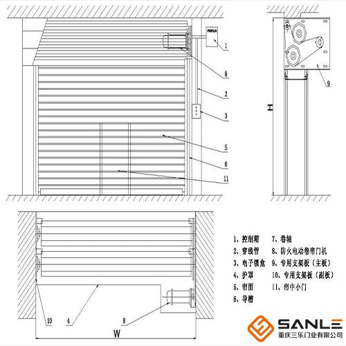 防火卷帘门结构图